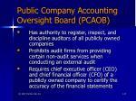 public company accounting oversight board pcaob
