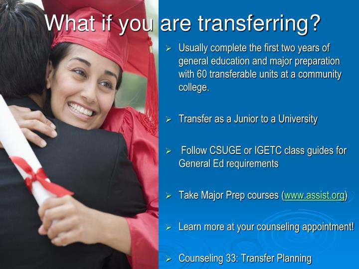 What if you are transferring?