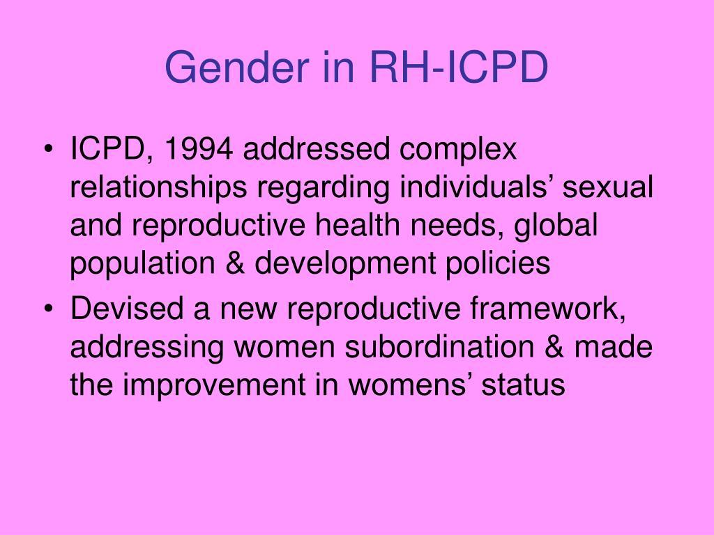 Gender in RH-ICPD