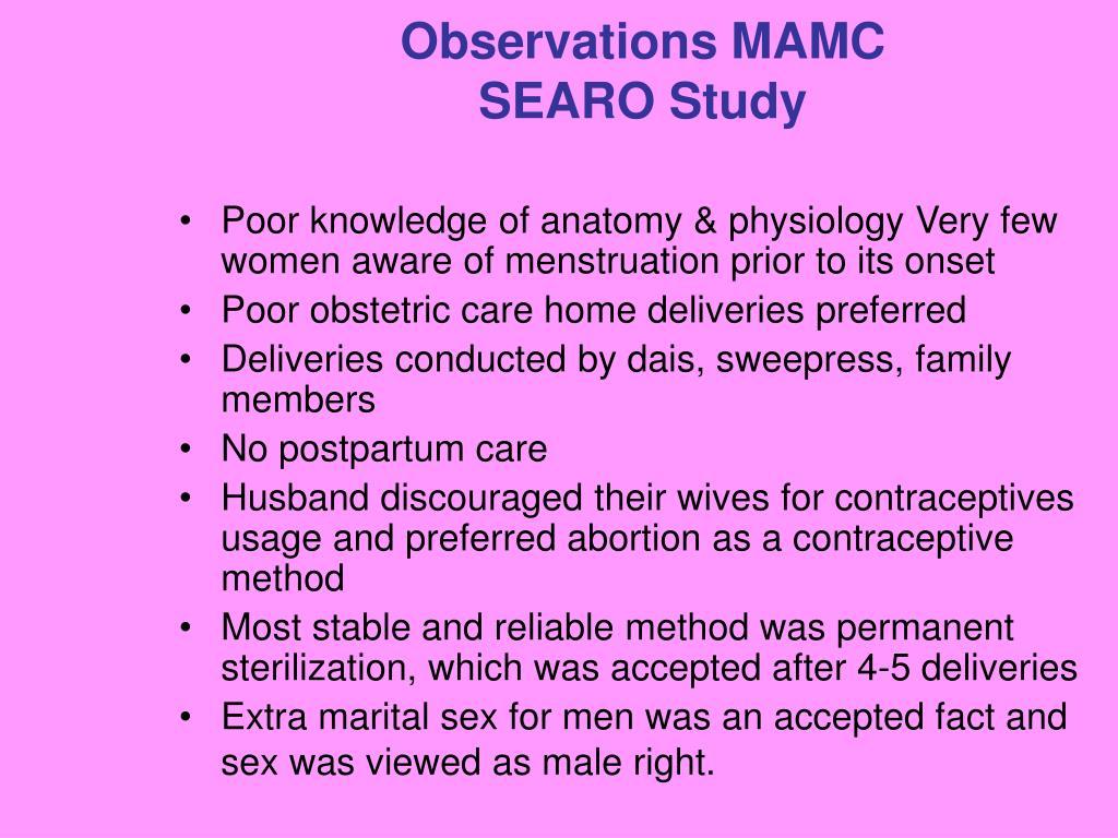 Observations MAMC