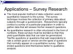 applications survey research