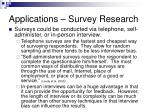 applications survey research1