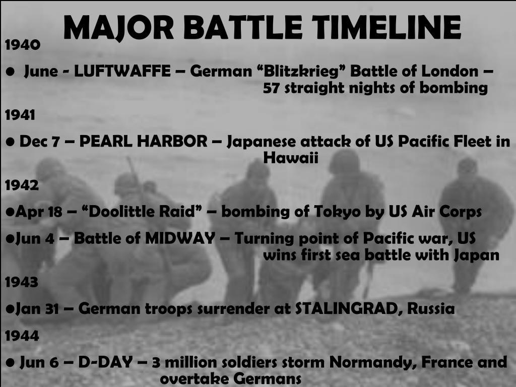 PPT - MAJOR BATTLES OF WORLD WAR II PowerPoint Presentation - ID:1441149
