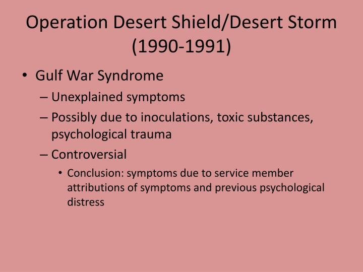 Operation Desert Shield/Desert Storm