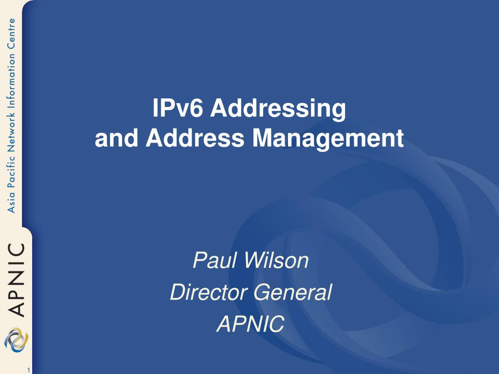 ipv6 addressing and address management l.
