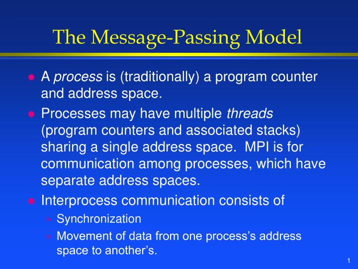 the message passing model n.