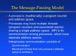 the message passing model