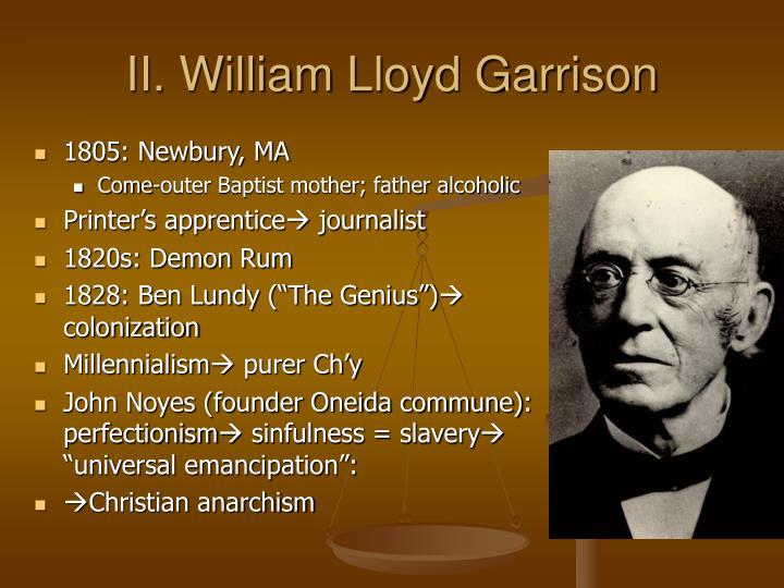 Ii william lloyd garrison