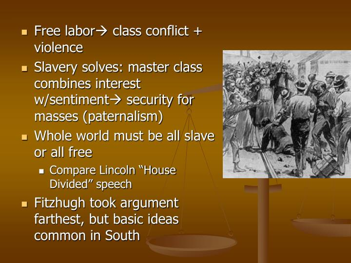Free labor class conflict + violence
