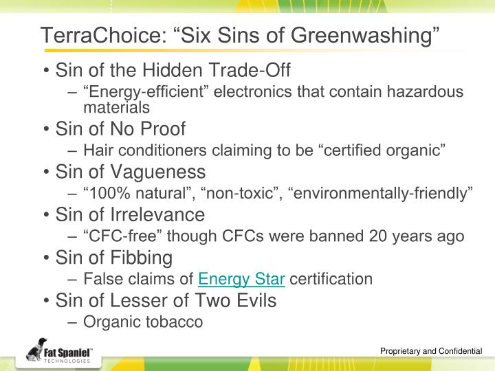 greenwashing misleading claims of environmental benefits essay The term greenwashing was coined by new york environmentalist jay westervelt in a 1986 essay misleading environmental claims environmental benefits.
