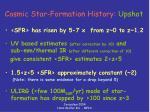 cosmic star formation history upshot