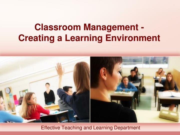 classroom management creating a learning environment n.