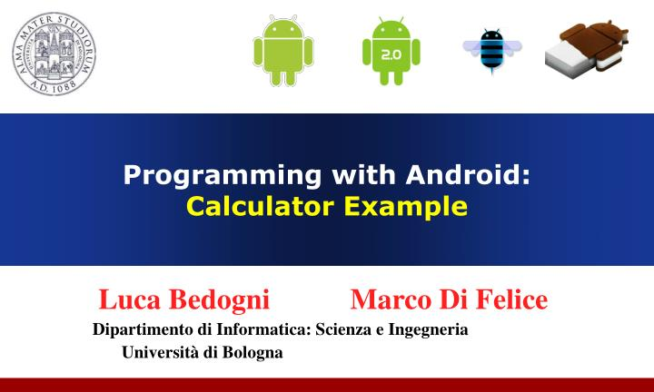programming with android calculator example