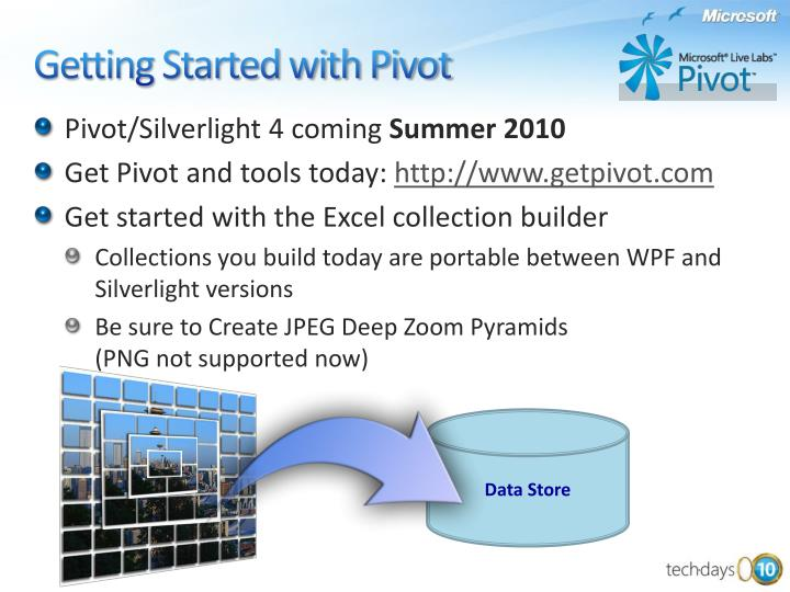 Pivot/Silverlight