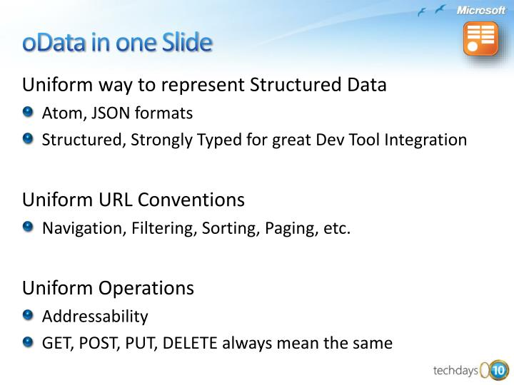 Uniform way to represent Structured Data