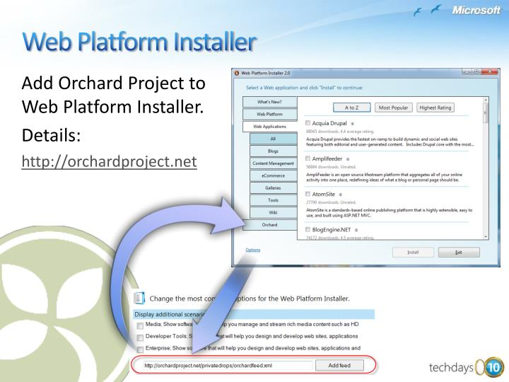 Add Orchard Project to