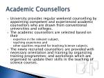 academic counsellors