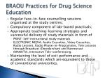 braou practices for drug science education19