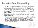 face to face counselling