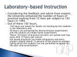 laboratory based instruction