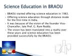 science education in braou