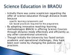 science education in braou11