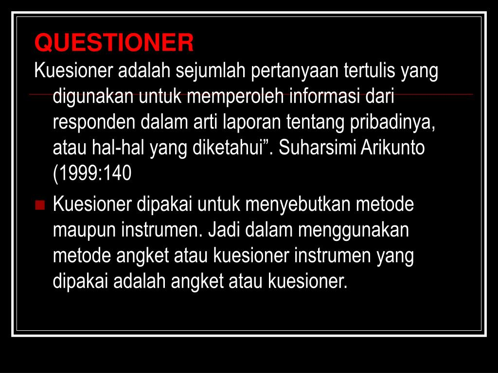 QUESTIONER