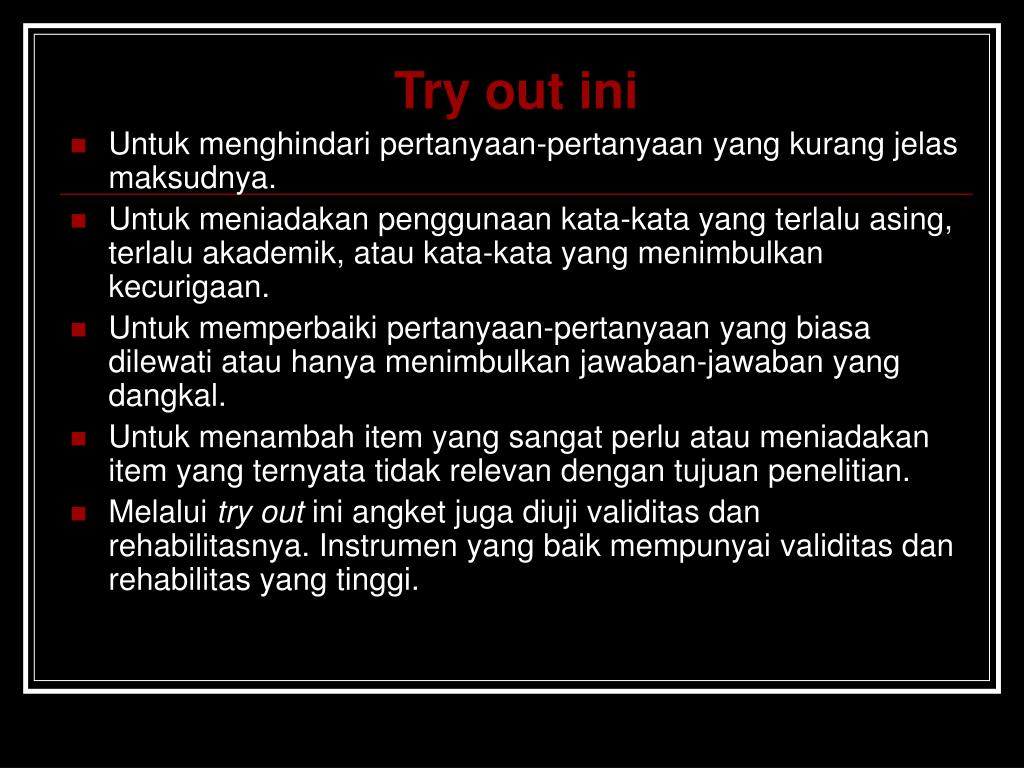 Try out ini