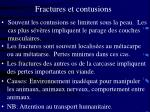 fractures et contusions