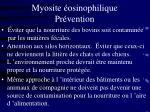 myosite osinophilique pr vention