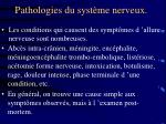 pathologies du syst me nerveux