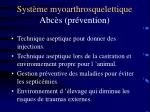 syst me myoarthrosquelettique abc s pr vention