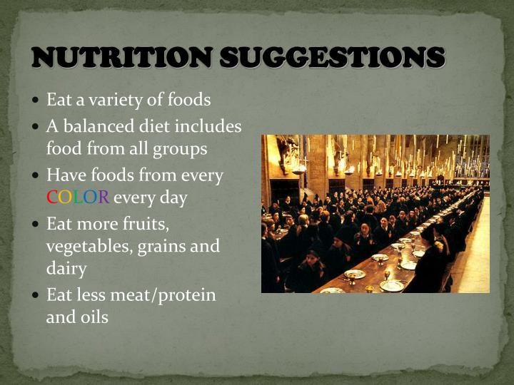 Nutrition Suggestions