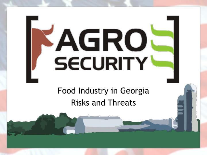 food industry in georgia risks and threats n.