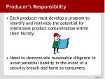 producer s responsibility