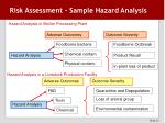 risk assessment sample hazard analysis