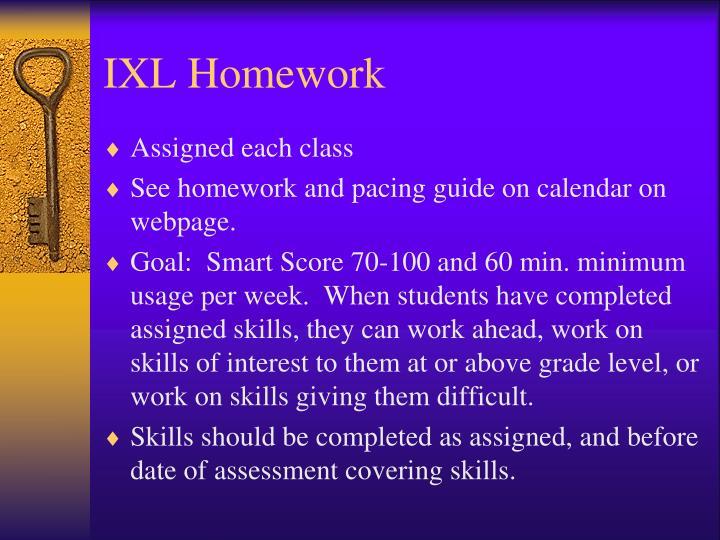 IXL Homework