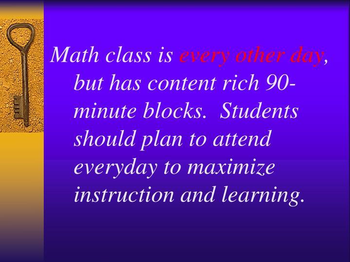 Math class is