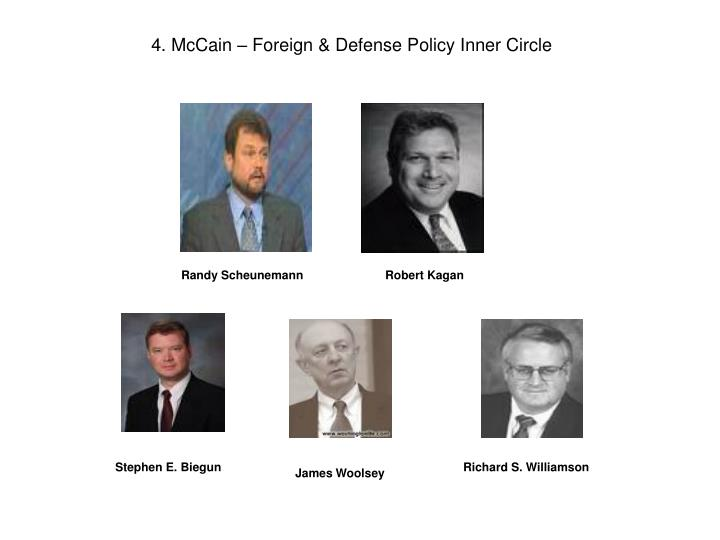 4. McCain – Foreign & Defense Policy Inner Circle