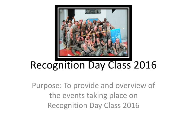 recognition day class 2016 n.