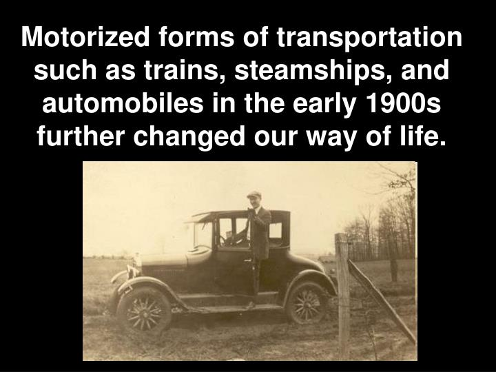transportation revolution of the 1900s essay In the early days of the industrial revolution, no one would have thought that  their  that baseline is relative to 1850–1900, when most of our.