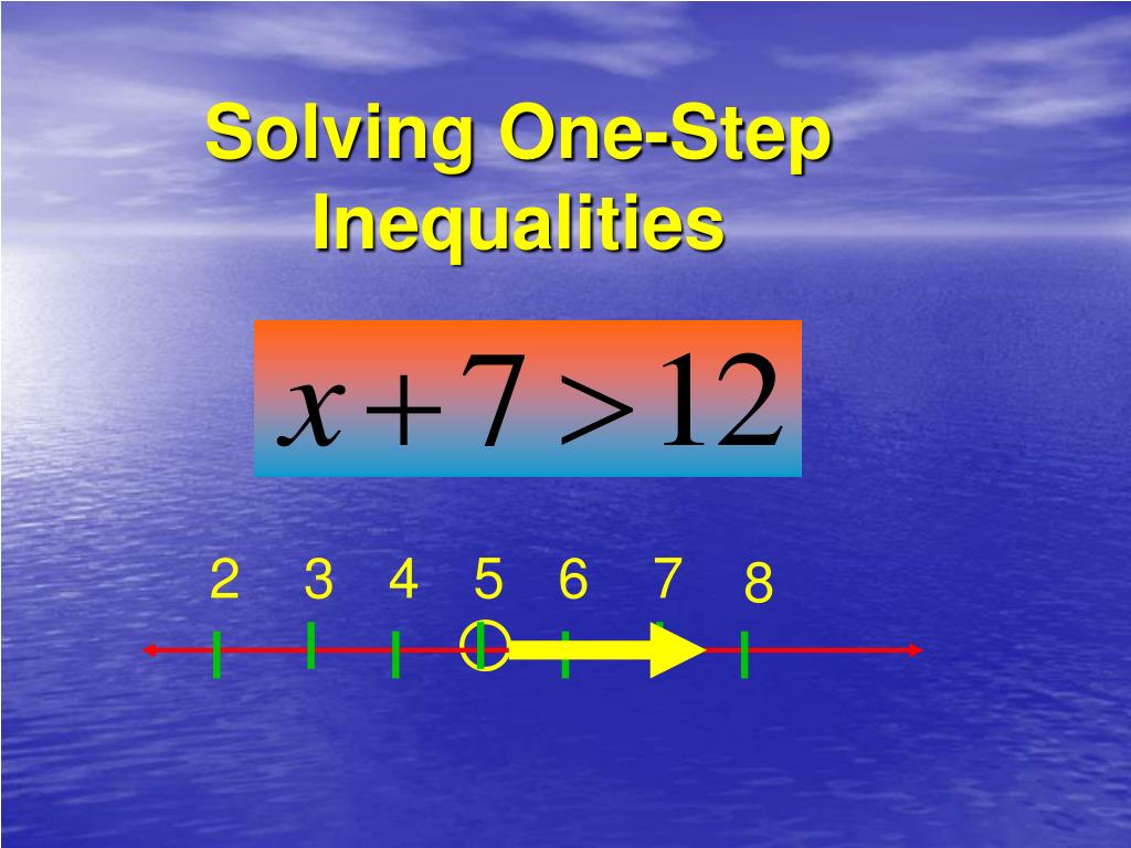 solving one step inequalities l.