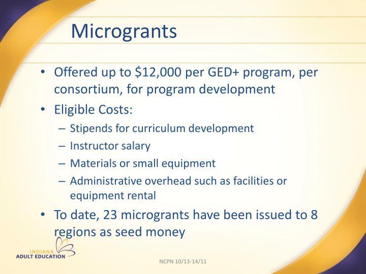 Microgrants
