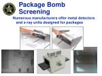 package bomb screening