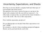 uncertainty expectations and shocks