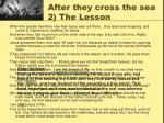 after they cross the sea 2 the lesson