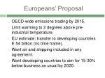 europeans proposal