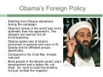 obama s foreign policy