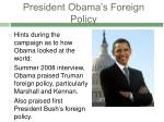 president obama s foreign policy