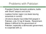 problems with pakistan